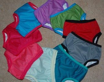 LuluBellDesigns OVERNIGHT All-in-one Waterproof Underwear Trainers SOLIDS L - Xl