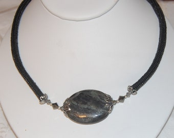 NEW - Black Agate Ndebele Necklace