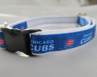 Chicago Cubs Cat  or Small Dog Collar