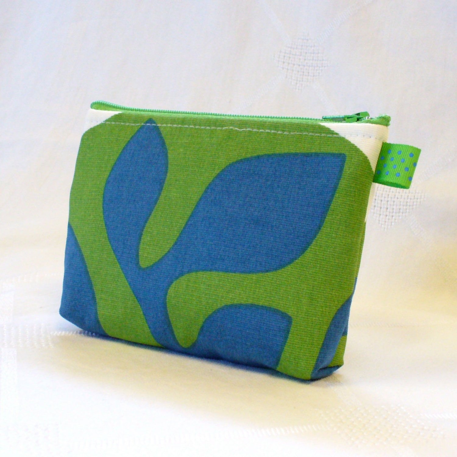 Ikea Fabric Zipper Pouch Cosmetic Bag Makeup Bag Gadget Bag
