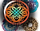 Celtic Motifs   - 63  1 Inch Circle JPG images - Digital  Collage Sheet
