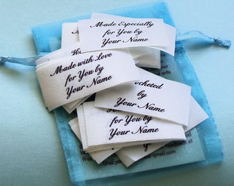 Qty 30 - 1 x 2 Inch Sew on Cotton Custom Clothing Labels