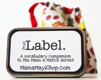Label - Fruit - Montessori Word Relation Game