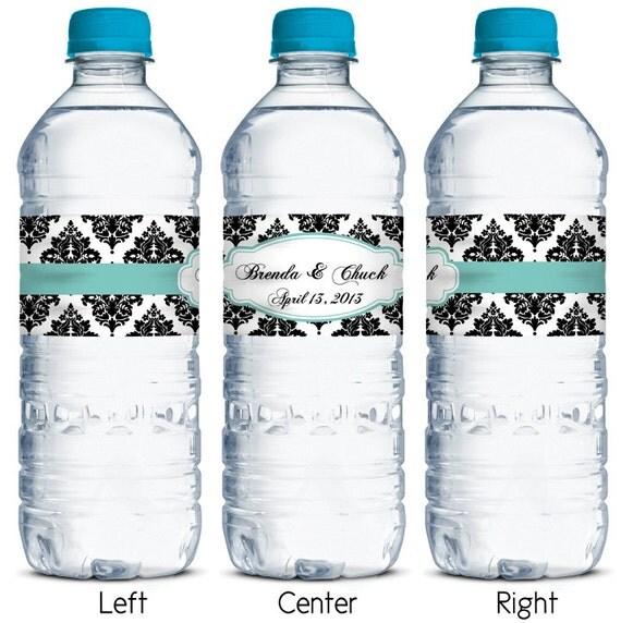 Waterproof Water Bottle Labels Custom Wedding By