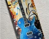 Canvas Growth Chart Custom Guitar Musical Notes Rock N Roll