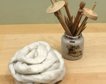 Cashmere Roving - Undyed Spinning Fiber (4oz)