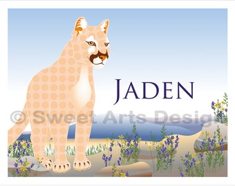 Cougar  -  Wall Print  (or)  Greeting Cards