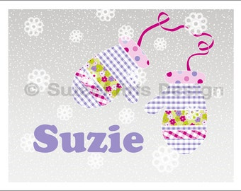 Mittens  -  Wall Print (or)  Greeting Cards