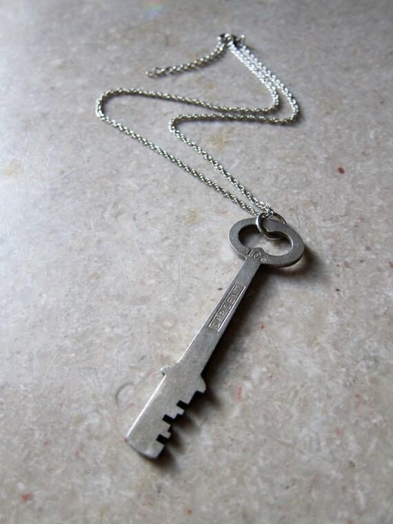 Vintage Sargent Cut Key Necklace
