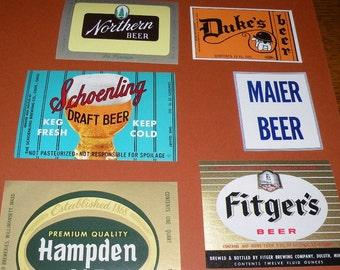 Vintage ORIGINAL Beer Labels Never Used