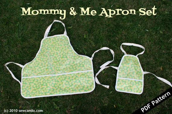 Sew Can Do Mommy and Me Apron PDF Pattern