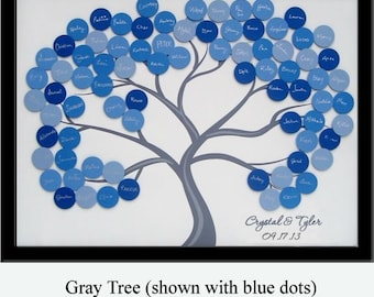 Small Wedding Guest Book Tree for 50-100 Guests