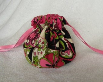 Jewelry Bag - Medium Size - Travel Jewelry Pouch - Drawstring Tote - JIBBER JABBER