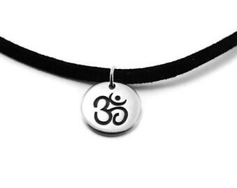 Mens Om Necklace | Yoga Inspired necklace | Om Necklace | Om Symbol | Hindu | Sanskrit Karma | Om, Aum, Ohm Jewelry |  Mens Yoga Necklace