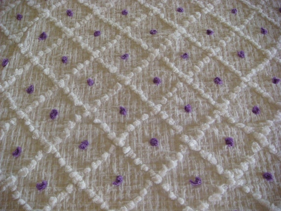 Purple Pops Vintage Cotton Chenille