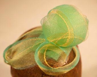 Ready to ship-Spring Fascinator- 'Ozma' Two Tone Sculpted Horsehair (Crinoline) Circular Fascinator/Headpiece