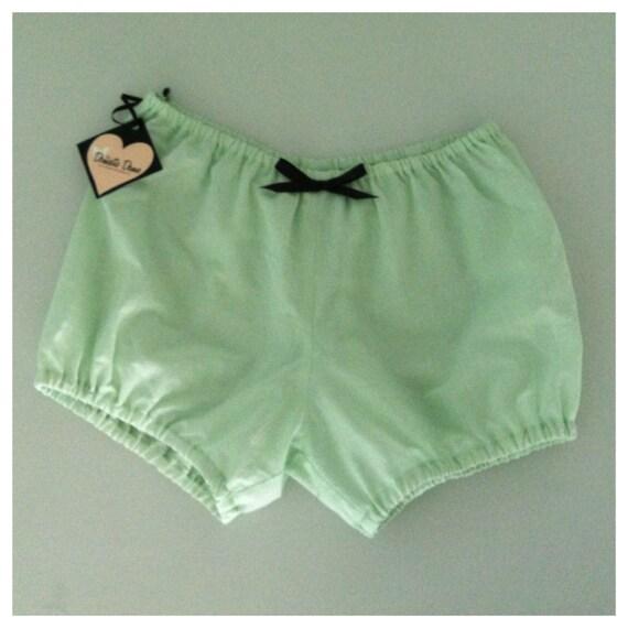 "SALE 1950s Cotton Mini Bloomer Shortie sleepwear loungewear pajamas LAST XS - ""Kitty Bloomer"""