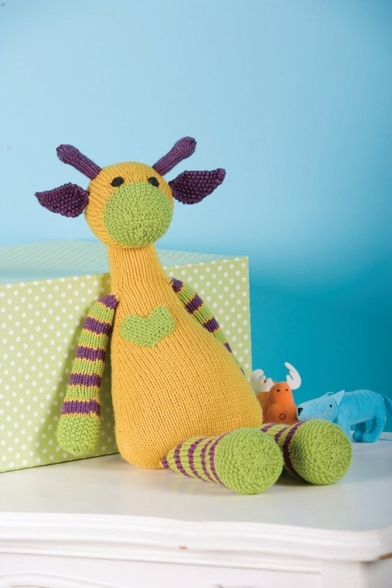 Mango the Giraffe Toy knitting pattern by TheByrdsNest on Etsy