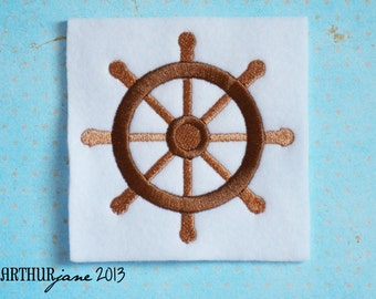 Boat Wheel, INSTANT DIGITAL DOWNLOAD, Nautical Embroidery Design for Machine Embroidery 4x4