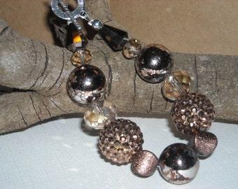 Smokey Bronze Chunky Bracelet
