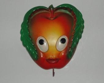 Vintage Chalk Apple Wall hanging holder.