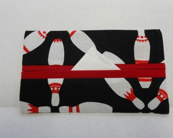Bowling Pins Tissue Cozy/Gift Card Holder