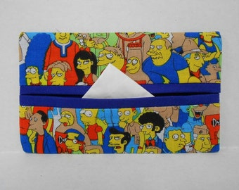 Where's Bart Tissue Cozy/Gift Card Holder (blue lining)/Party Favor/Wedding Favor