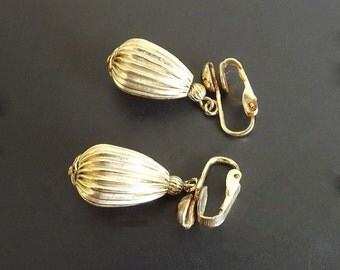 Vintage Earrings Dangle Clip On Costume Jewelry Accessories Dressy Casual