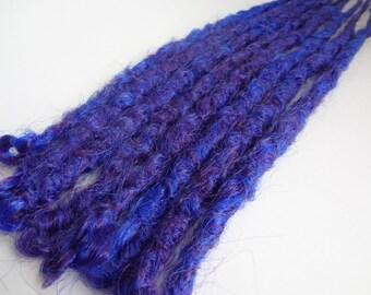 3 Dark Blue Purple Dreadlock extensions, dreadlocks, dreads, dread extensions, synthetic dreads, extensions, hair extensions, long dreadlock