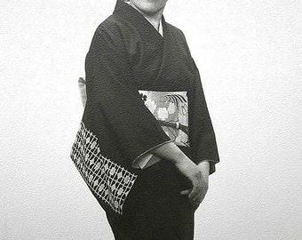 Vintage Japanese Actress Photograph  Photo Portrait Black and White Picture