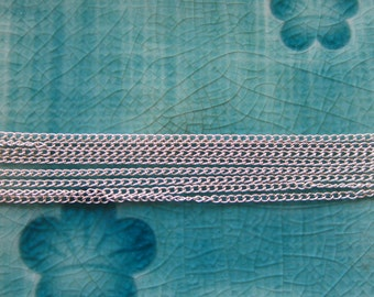 1 Ft 31 cm Delicate Silver Plated Curb Chain 1.5mm by 2mm SB152E