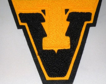 High School or College Sports LETTER in Gold and Black