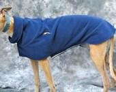 Greyhound Winter Coat, Small Female, navy blue