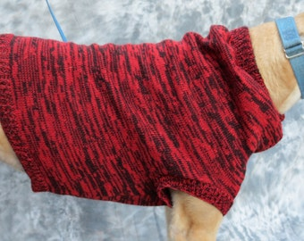Greyhound sweater vest, size medium, red/black brindle