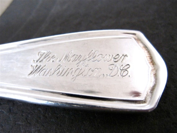 The Mayflower, Washington DC Hotel Silverplate Spoon