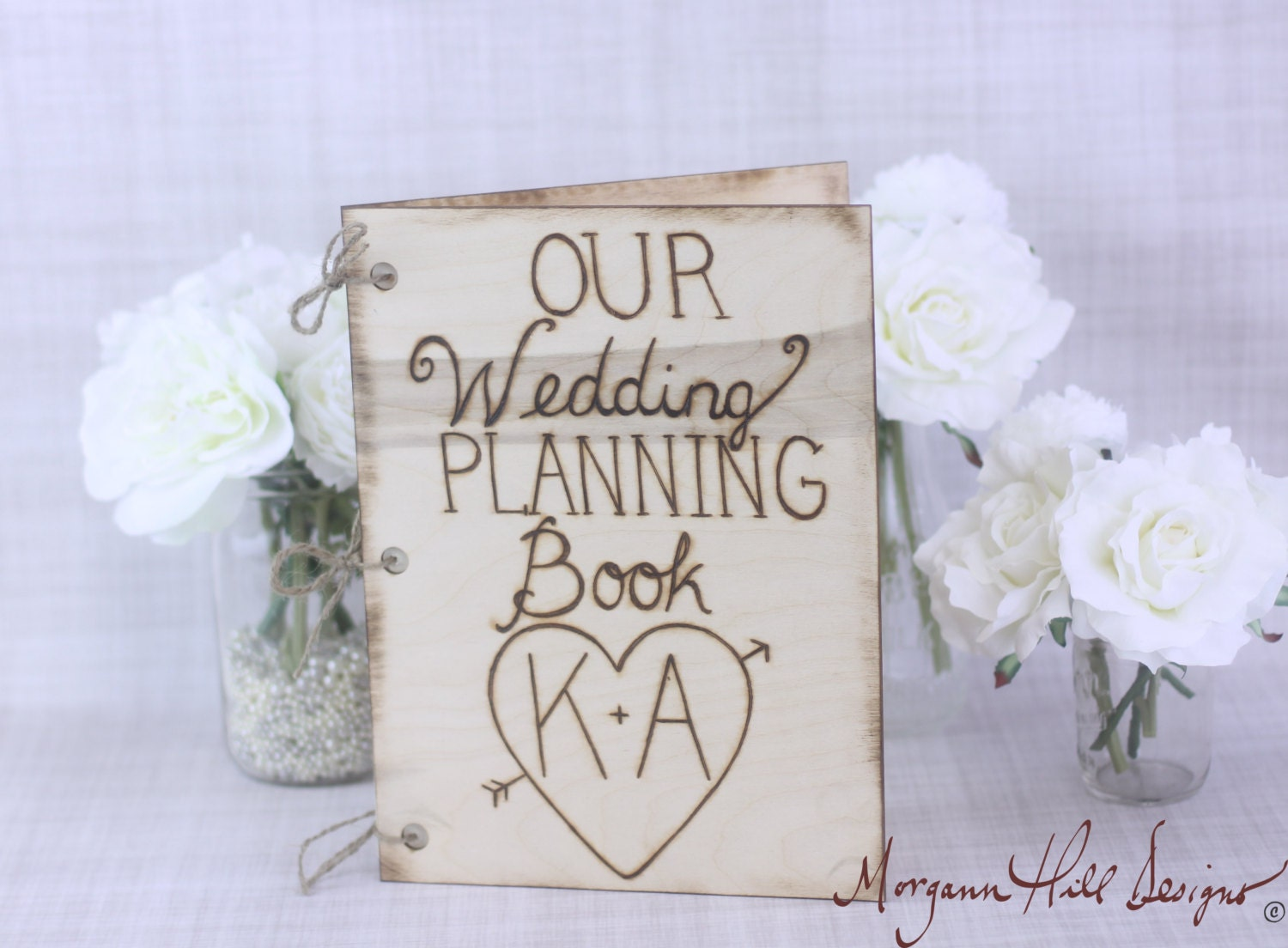 Wedding Planner Ideas Book: Items Similar To Personalized Rustic Wedding Planning Book