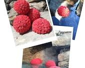 Coral Wedding Kissing Ball Pool decoration set of 15