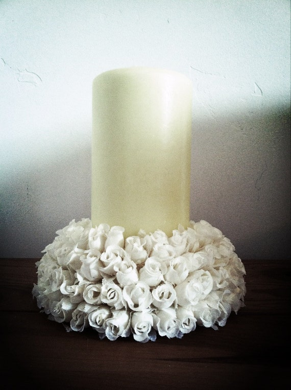 Items similar to shabby chic wedding candle centerpiece on