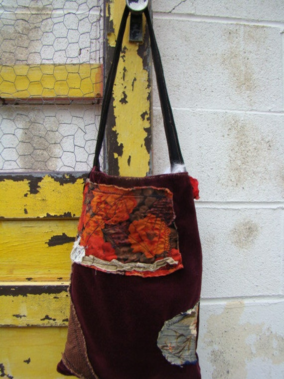 Artist's Hippie bag/Anthropologie Purse/Upcycled Purse