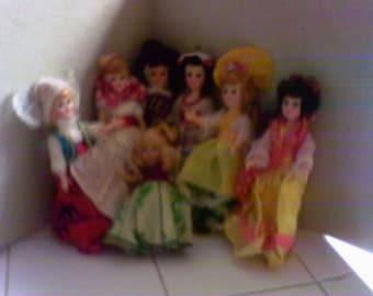 Vintage 7 Story Book Dolls/Sale