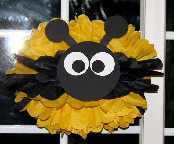 bumble bee bumblebee pom pom kit baby shower first birthday