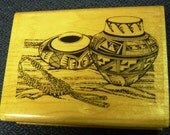 Indian Pottery & Beads - Great WM Rubber Stamp - Crafts - Cards - ATC - Crafts - Scrapbooks - FREE Shipping