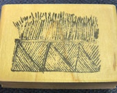 Grass Fence or Grass Basket - Great New WM Rubber Stamp by Kodomo - Cards - Collage - Scrapbooks - ATC - Crafts - FREE Shipping