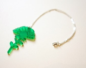 Small Emerald Green Necklace- Jewellery - Gift- Jewellery for Women Teens Young Adults
