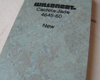Wilson Art Laminate Sample Key Ring Caldera Jade 1994 Free US Shipping