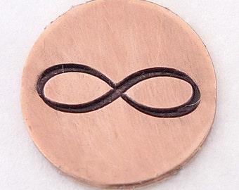 Infinity Symbol Metal Design Stamp 8mm - Handstamping Metal Jewelry Tool The Urban Beader