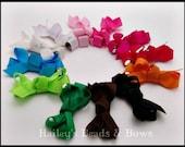 Pick 5 No-Slip Bitty Baby Hair Bows, Newborn Hair Bows, Set of Baby Hair Bows