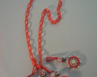 plastic charm necklace 1980s K-mart jewelry eighties pop music saved by the bell
