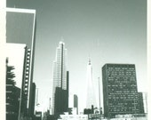 San Francisco CA Modern Architecture Buildings Skyscrapers Pyramid 1960s Vintage Black And White Photo Photograph