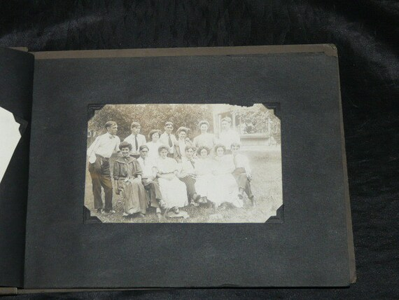 1920s School Girl Photo Album Vintage Photographs Class Picture Kids Family Girls Dogs